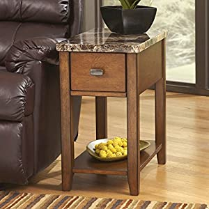 Signature Design by Ashley Brown Contemporary Chair Side End Table