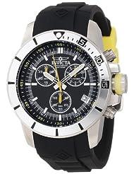 Invicta Men's 11744BYB Pro-Diver Chronograph Black Dial Black Polyurethane Watch