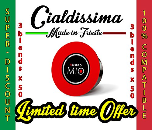 Get cialdissima 150 CAPSULES COMPATIBLE LAVAZZA A MODO MIO COFFEE! ITALIAN ESPRESSO! THREE DIFFERENT BLENDS! 3x 50 MIXED PACK from cialdissima