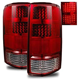 Dodge Nitro 2007-2010 LED Tail Lights Red Clear (Fits: All)