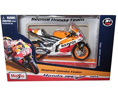 2014 Honda RC2 13V Repsol #93 Marc Marquez Motorcycle Model 1/18 by Maisto 34587 MA - 1