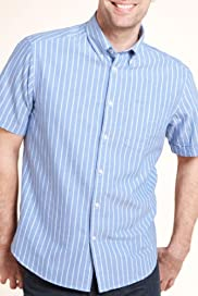 Blue Harbour Pure Cotton Striped Oxford Shirt [T25-5775B-S]