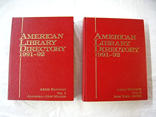 American Library Directory, 1991-92
