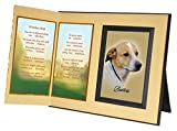 Promises Kept Poem Memorial Keepsake Picture Frame and Pet Loss Sympathy Gift, with optional custom photo editing