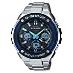Casio G-Shock G-Steel Black Dial SS Chronograph Quartz Male Watch GSTS100D-1A2