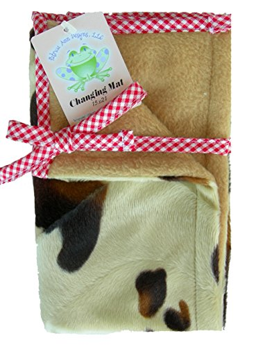 Changing Mat In Pony With Tanfleece And Red Gingham Check Trim front-957859