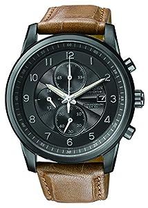 Citizen Men's CA0335-04E Eco-Drive Black Ion Plated Chronograph Watch