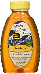 Raw Raspberry Honey 16oz (Pure Natural Honey)