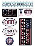 Omicron Epsilon Pi Sheet - American Theme. 8.5