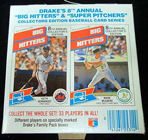 1988 Drakes Coffee Cakes Empty Box * Keith Hernandez * Mark Mcguire