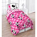 4pc Disney Minnie Mouse Love Hearts Dots Twin Bedding Set