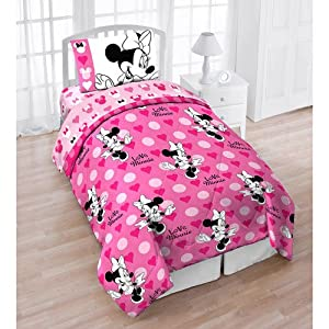 Amazon.com - Disney Minnie Mouse Love Hearts Dots 3pc Twin Bed