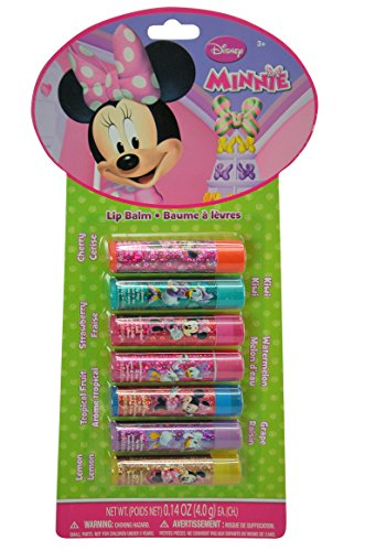 Disney Minnie Mouse Bowtique Flavored Lip Balm of the Week 7 Piece Gift Set