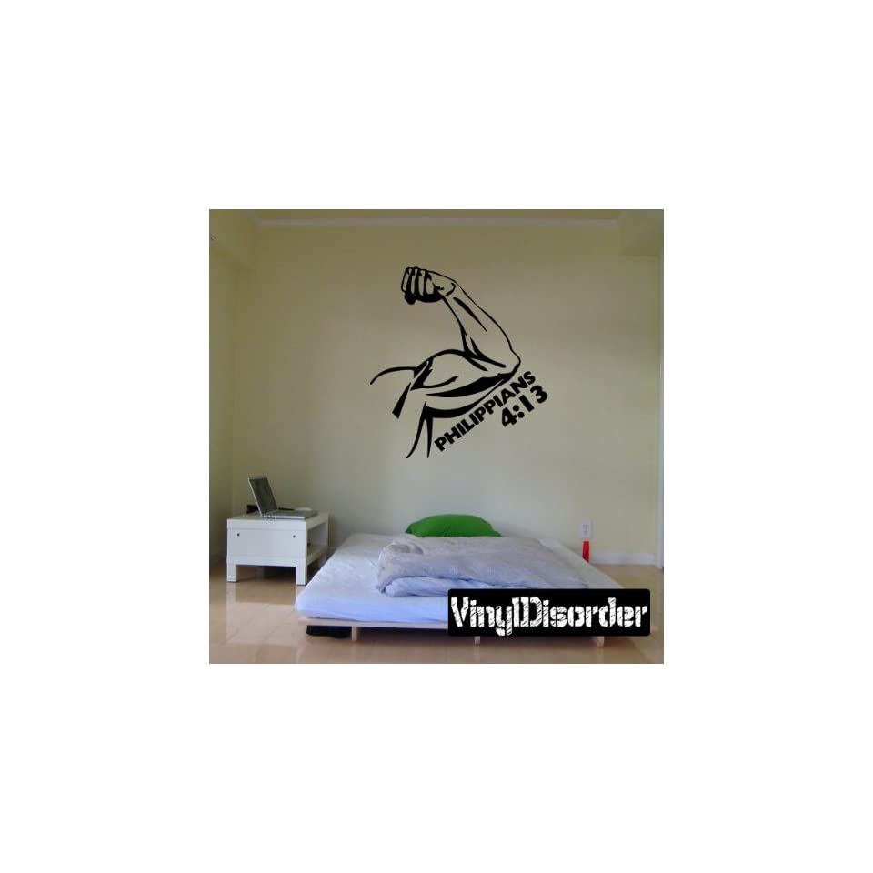 Philippians 4 13 Wall Decal   Vinyl Decal   Car Decal   DC106
