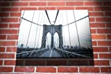 Brooklyn Bridge New York City Landscape City Gallery Framed Canvas Art Picture Print