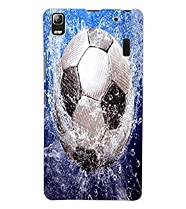 ColourCraft Football in Water Design Back Case Cover for LENOVO A7000 PLUS