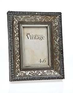 4x6 vintage silver scroll photo picture frame single frames. Black Bedroom Furniture Sets. Home Design Ideas