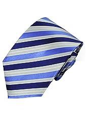 High Quality Men's Silk Necktie Tie Formal Solid Design - Blue and Grey sale off 2015