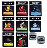 Billy Boy Relax Mix - 10 Billy Boy Sorten - 21 Kondome + Billy Boy Vibrationsring + 2 coole Billy Boy Eisw�rfel gratis!