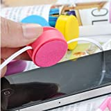 Bao Xin Cable Cord Winder Organizer for Headset Earphone with Screen Wiper (Black)