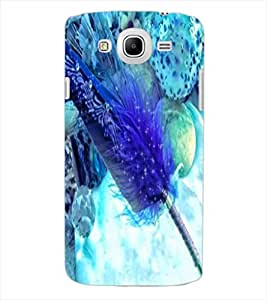ColourCraft Lovely Feather Design Back Case Cover for SAMSUNG GALAXY MEGA 5.8 I9150
