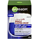Garnier Skin Ultra-Lift Miracle Sleeping Cream Anti-Age Plus Anti-Fatigue Night Cream, 1.7 Ounce