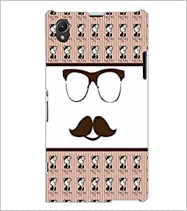 PrintDhaba Mustache D-4780 Back Case Cover for SONY XPERIA Z1 (Multi-Coloured)