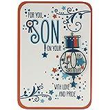 Hallmark 40th Birthday Card For Son 'With Love and Pride' - Medium