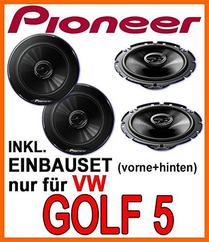 VW-Golf-5-Lautsprecher-Pioneer-fr-vorne-hinten-Einbauset