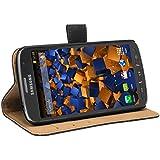 mumbi Ledertasche im Bookstyle für Samsung Galaxy S4 Active Tasche schwarz // NUR für S4 ACTIVE nicht für normales S4