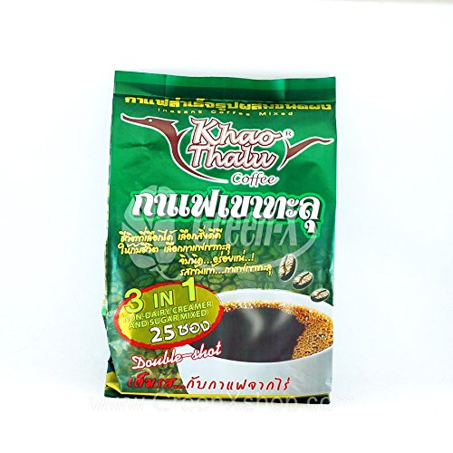 Kao Thalu Chumphon Coffee instant coffee mixed 3 in 1 ( 600 grams) Original Designed (green) (Melitta Coffee Dripper compare prices)