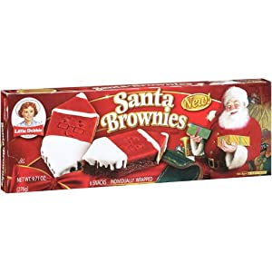 Little Debbie Limited Time - Santa Brownies
