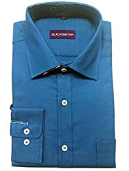 Blacksmith Men's Formal Shirt_1968096031BLSHIRTTWILL3_Turkish Tile_42