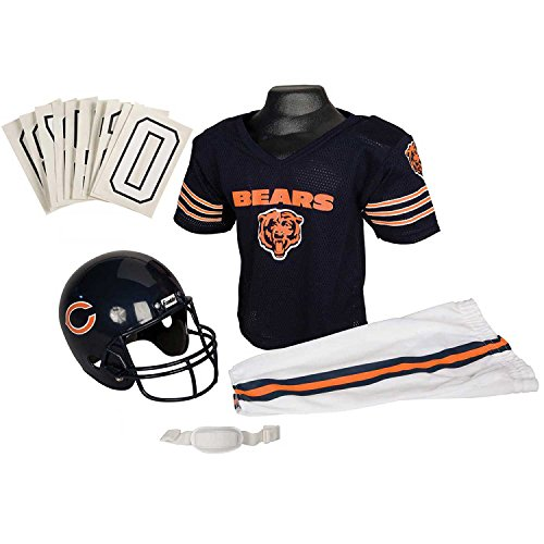 Franklin Sports NFL Chicago Bears Youth Licensed Deluxe Uniform Set, Large (Football Helmets For Sale compare prices)