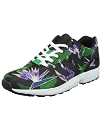 Adidas Men's ZX Flux, FLORAL-BLACK/PURPLE/GREEN