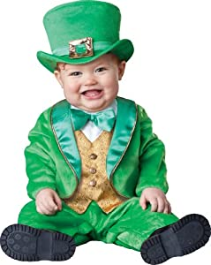 InCharacter Costumes Baby's Lil' Leprechaun Costume, Green/Gold/White, Small (6 Months-12 Months)