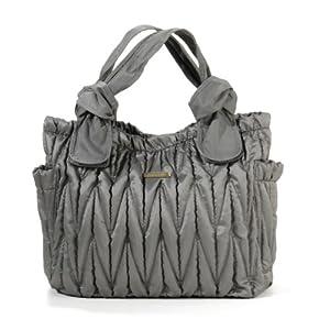 timi & leslie Marie Antoinette 7-Piece Diaper Bag Set, Silver