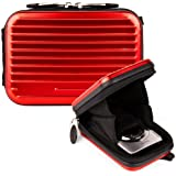 HOT RED VanGoddy Pascal Tough Compact Metal Camera Protector Case fits Kodak PIXPRO FZ51 / Easy Share C1530