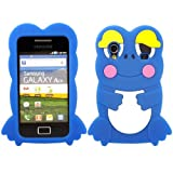 Frog Silicone Case Cover Skin For Samsung Galaxy Ace S5830 / Blue