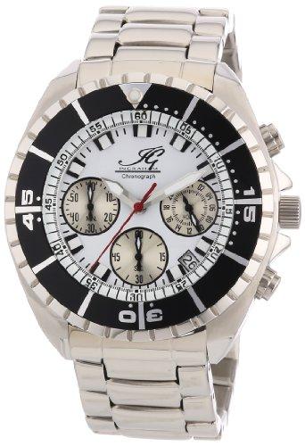 Ingraham - IG SYRA.1.611173 - Montre Homme - Quartz Chronographe - Chronomètre - Bracelet Acier Inoxydable Argent