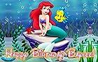 Little Mermaid 1/4 Sheet Edible Photo Birthday Cake Topper. ~ Personalized!