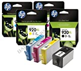 Black, Cyan, Magenta & Yellow Original High Capacity HP Printer Ink Cartridges for HP Officejet 7000
