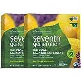 Seventh Generation Natural Powder Laundry Detergent - 112 oz - Real Citrus & Wild Lavender - 2 pk