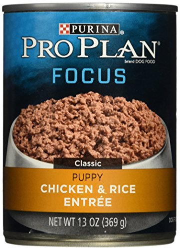 Purina Pro Plan Wet Dog Food, Focus, Puppy Chicken & Rice Entree Classic, 13-Ounce Can, Pack of 12 (Purina Pro Plan Puppy Wet compare prices)