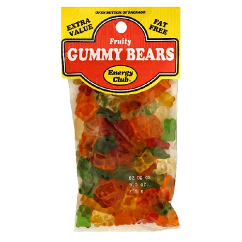 Buy Energy Club Gummy Bears, Fruity, 9-Ounce Bags (Pack of 12) (Energy Club, Health & Personal Care, Products, Food & Snacks, Snacks Cookies & Candy, Candy, Gummy Candies)