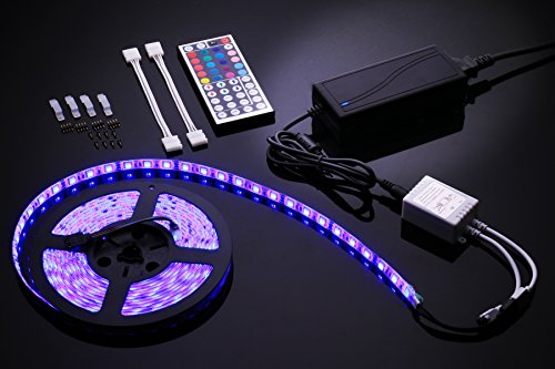 ledemain-5m-300led-rgb-5050-strip-light-with-44-keys-ir-remote-5a-uk-plug-waterproof