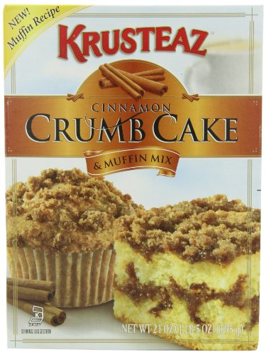 Krusteaz Cinnamon Crumb Cake Mix, 21-Ounce Boxes (Pack of 4)