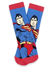 Cotton Rich Superman™ Terry Slipper Socks