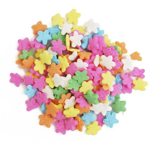 Dress My Cupcake DMC27298 Decorating Edible Cake and Cookie Confetti Sprinkles, Mini Flowers, 2.4-Ounce
