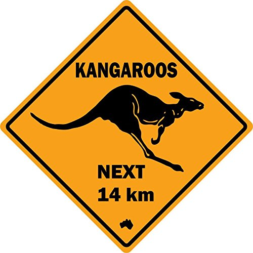 Adesivo per laptop macbook, segnale stradale Australia Canguro